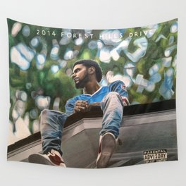 J.Cole 2014 Forest Hills Drive Drawing Wall Tapestry