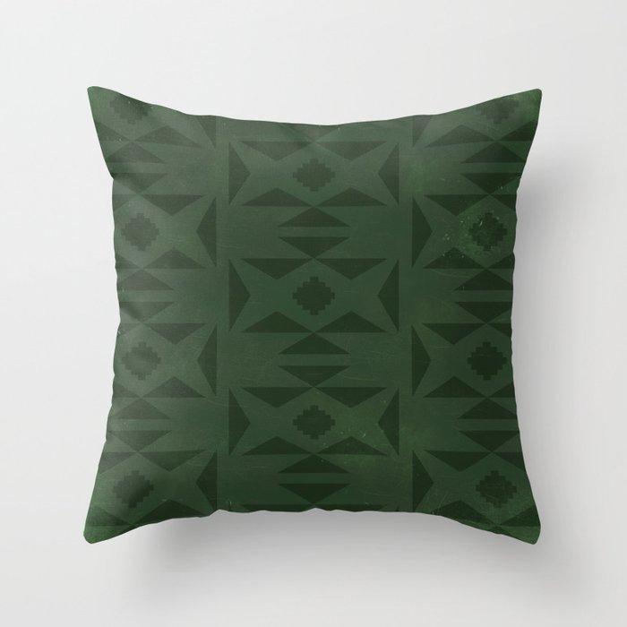 Wild (Green) Throw Pillow