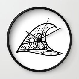 Wave in a Wave Wall Clock