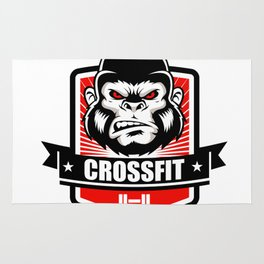 Gorilla fitness gym and sport Rug