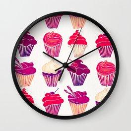 Cupcakes – Fuchsia Palette Wall Clock