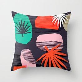 Dank - memphis style 80's throwback neon shape palm house plant retro vintage decor hipster art Throw Pillow