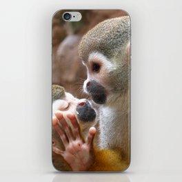 Monkey Love and Attitude  iPhone Skin