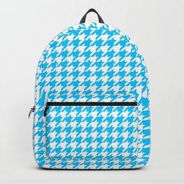 Friendly Houndstooth Pattern, aqua Backpack
