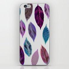 Pink Leaves 2 iPhone & iPod Skin