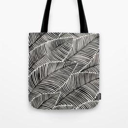 Tropical Palm Leaves – Black Palette Tote Bag