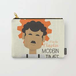 "Charlie Chaplin ""Modern Times"" movie poster, fine Art print, classic film with Paulette Goddard Carry-All Pouch"