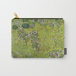 "Gustav Klimt ""Orchard with Roses (Obstgarten mit Rosen)"" Carry-All Pouch"
