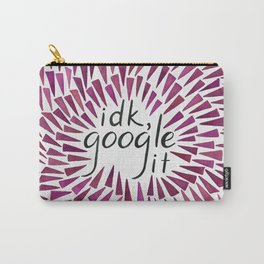 I don't know, google it - Burgundy Carry-All Pouch
