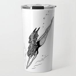 Free Dive Mermaid Travel Mug