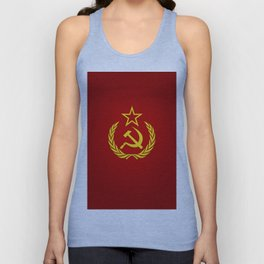 Hammer and Sickle Textured Flag Unisex Tank Top