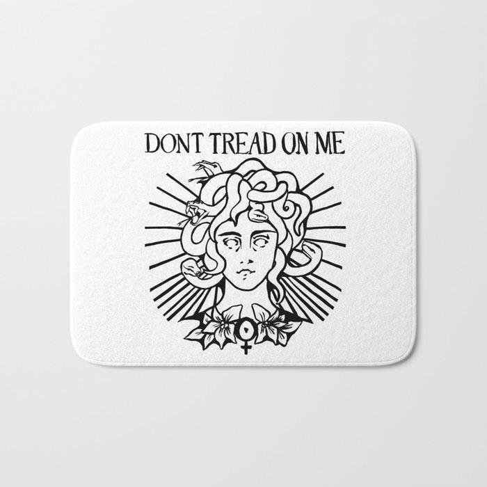 Medusa: Don't Tread On Me (White) Bath Mat