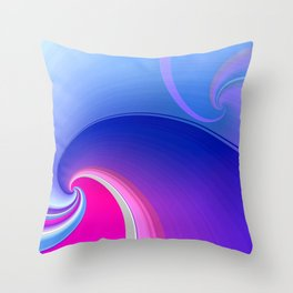 Ride the Wave (purple) Throw Pillow