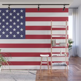 USA flag - Hi Def Authentic color & scale image Wall Mural