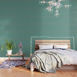 Christmas Presents In The Mist Of Mistletoe And Bells Decor Wallpaper
