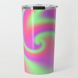 Tutti Frutti Ribbon Candy Fractal Travel Mug