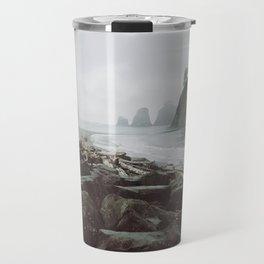 Moody Washington Coastline Travel Mug