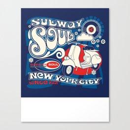 Soul Scoot Subway Soul by Dawn Carrington Canvas Print
