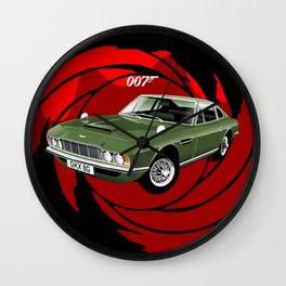 James Bond Aston Martin DBS from OHMSS Wall Clock