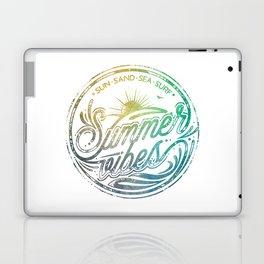 Summer vibes - typo artwork Laptop & iPad Skin