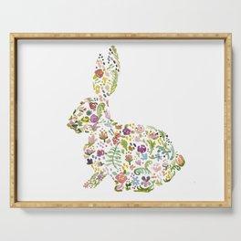 Springtime Flower Bunny Serving Tray