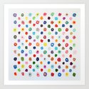 Concentric Confetti Polka Daubs by annmariecoolick