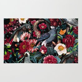 FLORAL AND BIRDS XX Rug