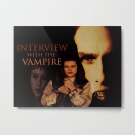 Vampires Interview Metal Print