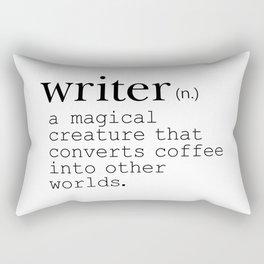 Writer Definition - Converting Coffee Rectangular Pillow