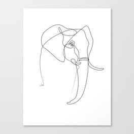 Elephant line Canvas Print