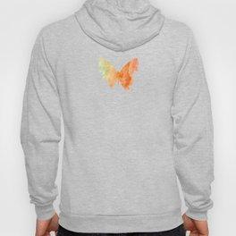 Orange Watercolor Butterfly Hoody