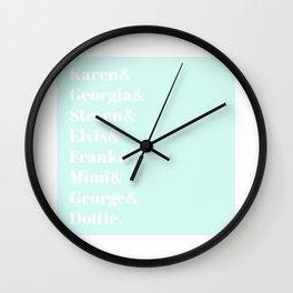MFM Fam Wall Clock