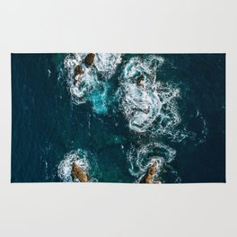 Sea Smile - Ocean Photography Rug