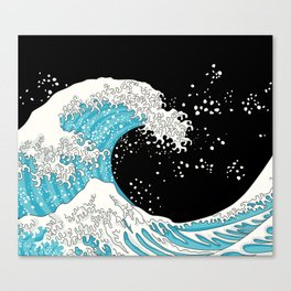 The Great Wave (night version) Canvas Print