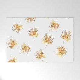 Golden Palm Leaf Welcome Mat