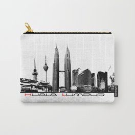 Kuala Lumpur skyline black Carry-All Pouch