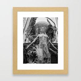 Downtown Statues Framed Art Print