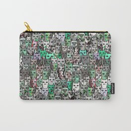 Forest Cats Green Watercolor Carry-All Pouch