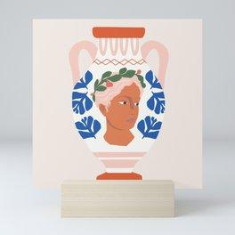 Greek Goddess Vase Mini Art Print