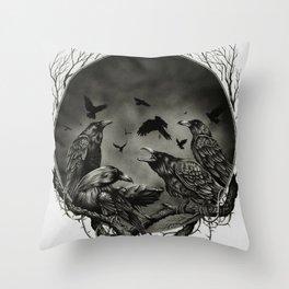 Corvidae Throw Pillow