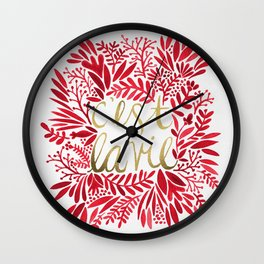 That's Life – Gold & Red Wall Clock