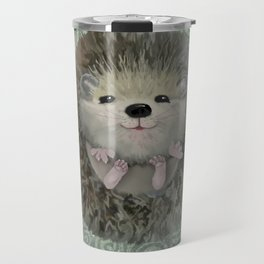 Cute Baby Hedgehog Travel Mug