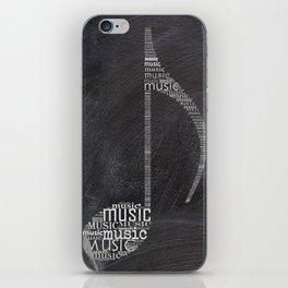 Chalkboard music note iPhone Skin