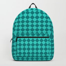 Teal and Turquoise Diamonds Backpack