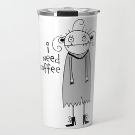 Cute zombie illustration Travel Mug