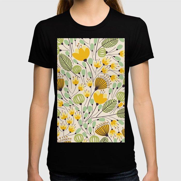 Floral Pattern - Doodle Pattern - Pattern T-shirt