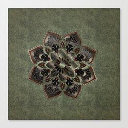 Wonderful noble mandala design Canvas Print
