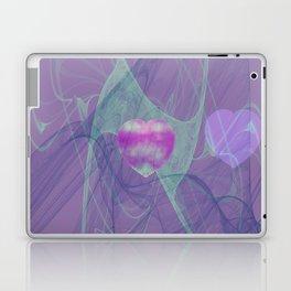 Heart Art- Abstract Art- Now or Later- Pink Heart- Purple Heart-Green-Pattern Art- Sacred Geometry Laptop & iPad Skin