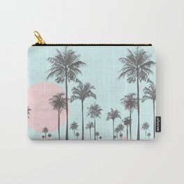 Beachfront palm tree soft pastel sunset graphic Carry-All Pouch
