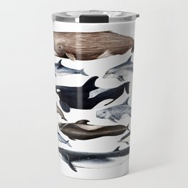 Atlantic whales, dolphins and orca Travel Mug